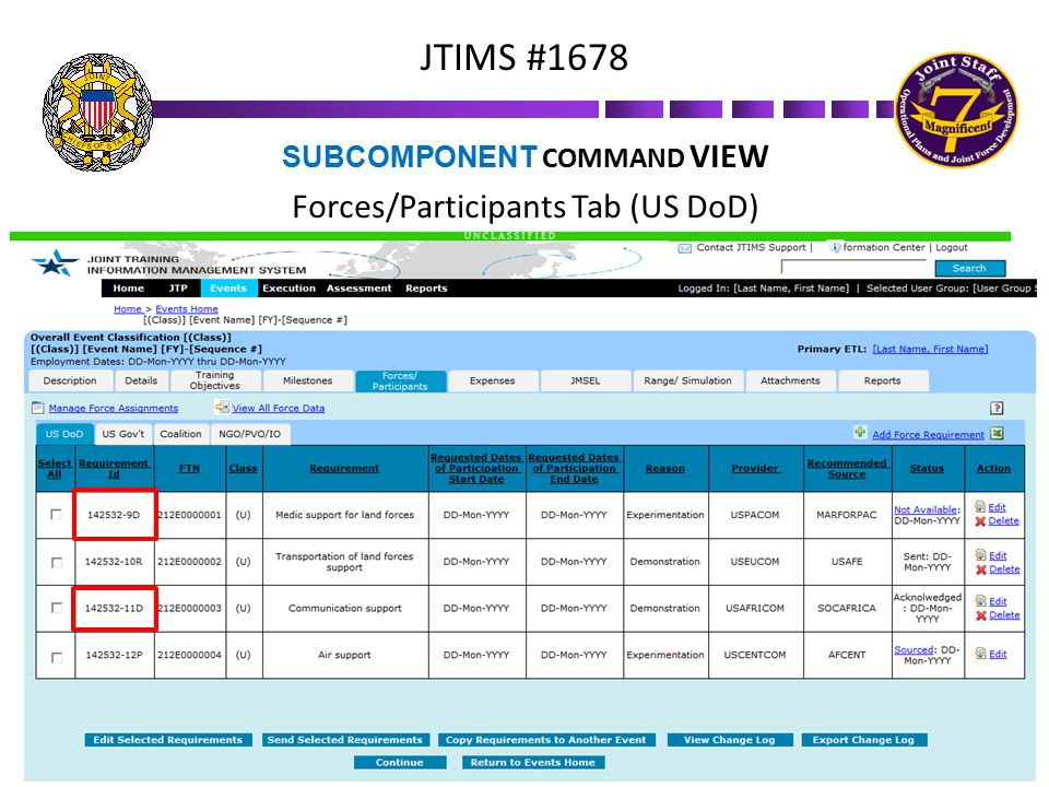 SUBCOMPONENT COMMAND VIEW