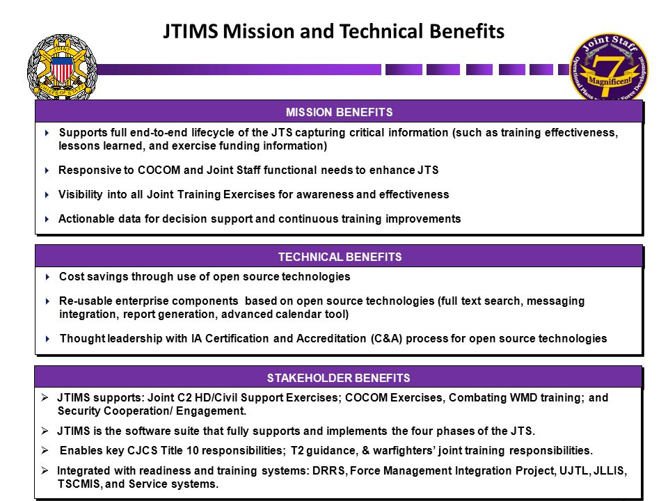 JTIMS Mission and Technical Benefits
