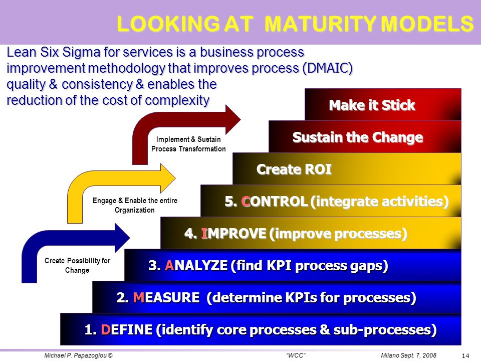 LOOKING AT MATURITY MODELS