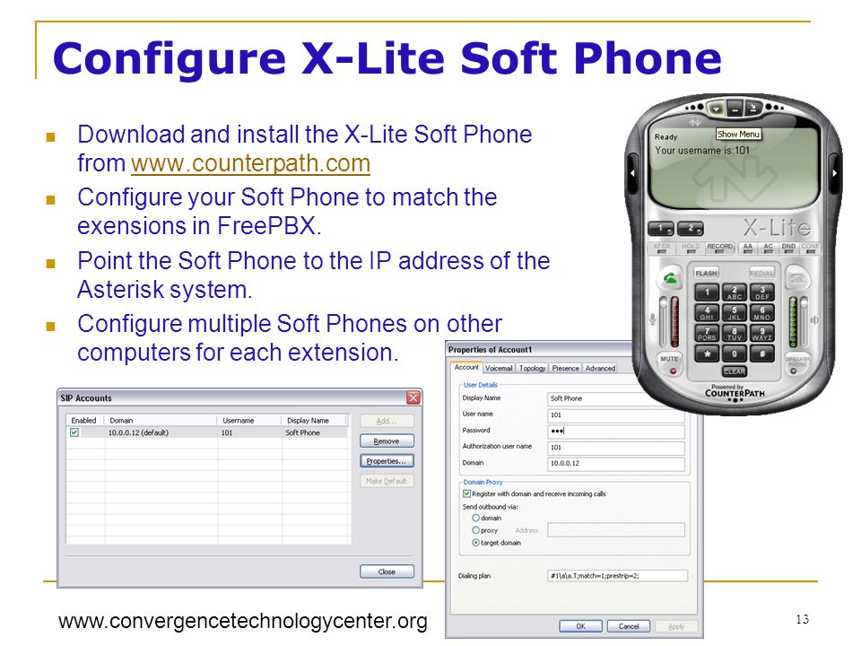 Configure X-Lite Soft Phone
