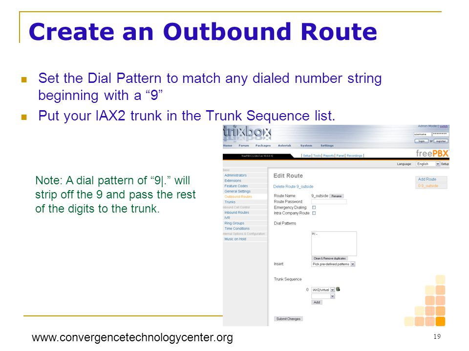 Create an Outbound Route
