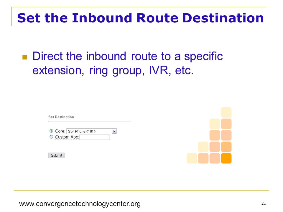 Set the Inbound Route Destination