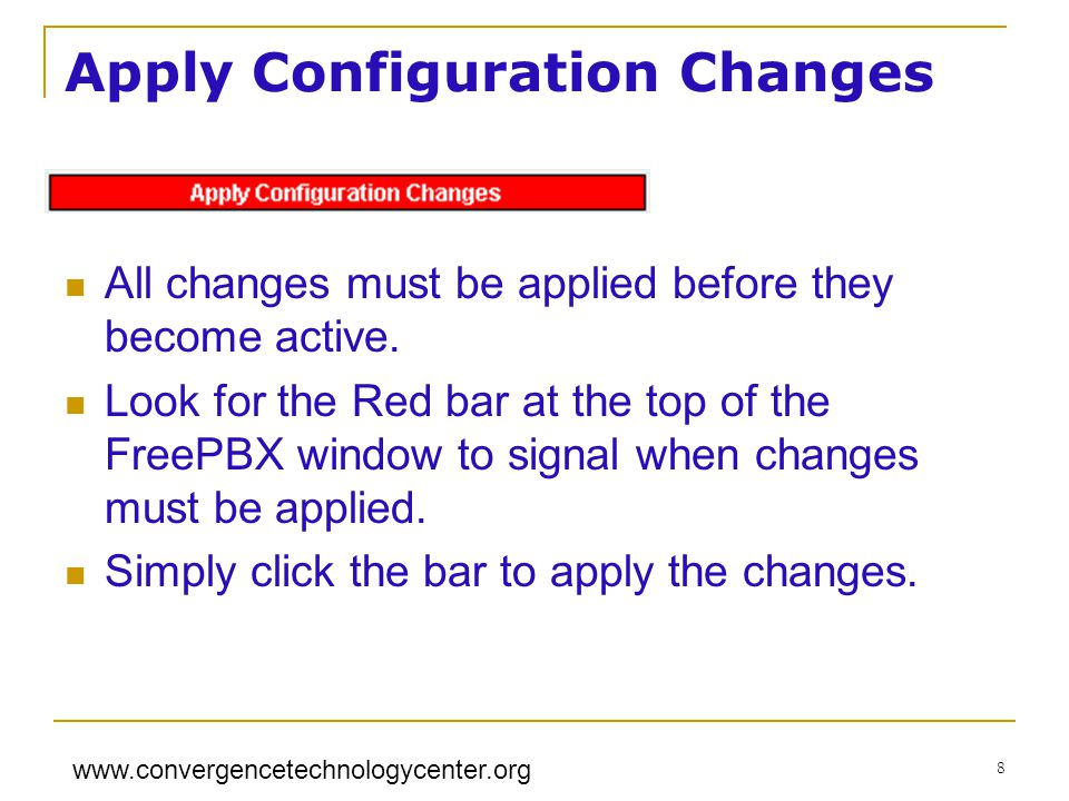 Apply Configuration Changes