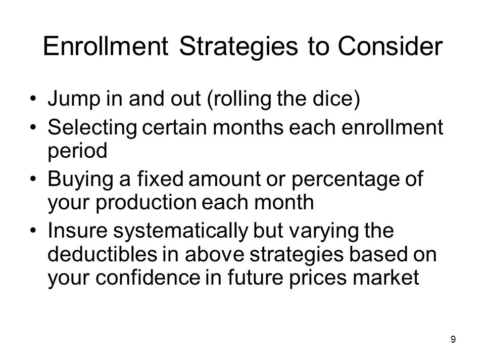 Enrollment Strategies to Consider