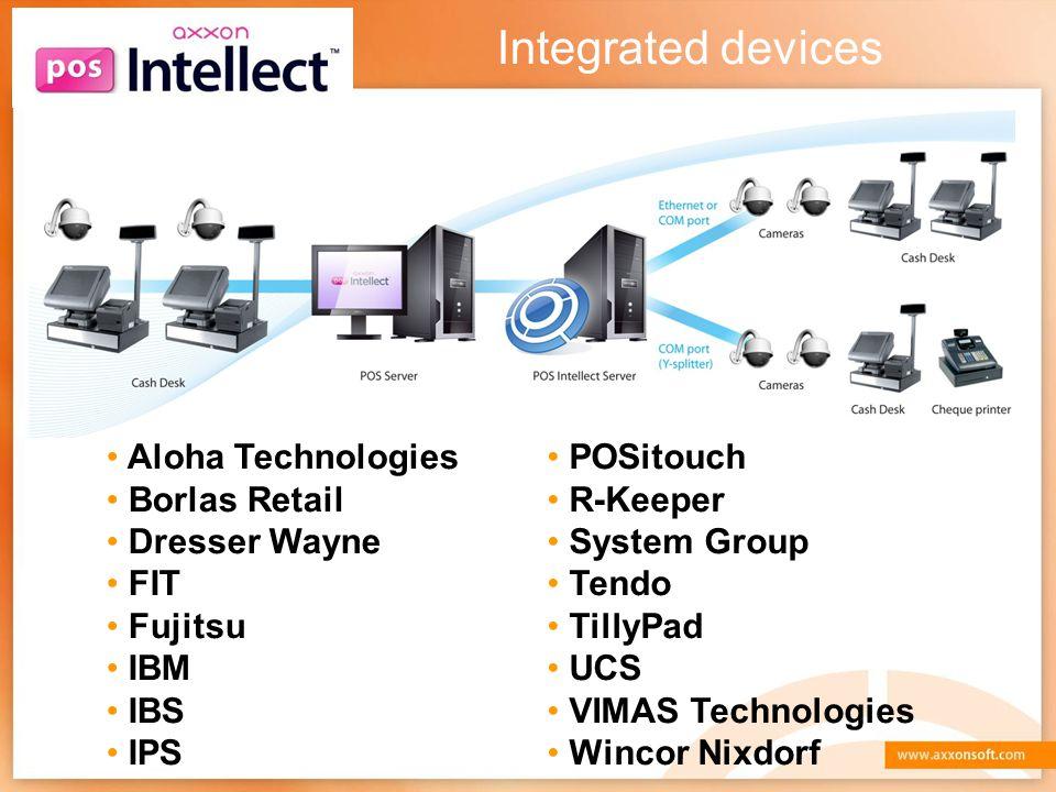 Integrated devices Aloha Technologies Borlas Retail Dresser Wayne FIT