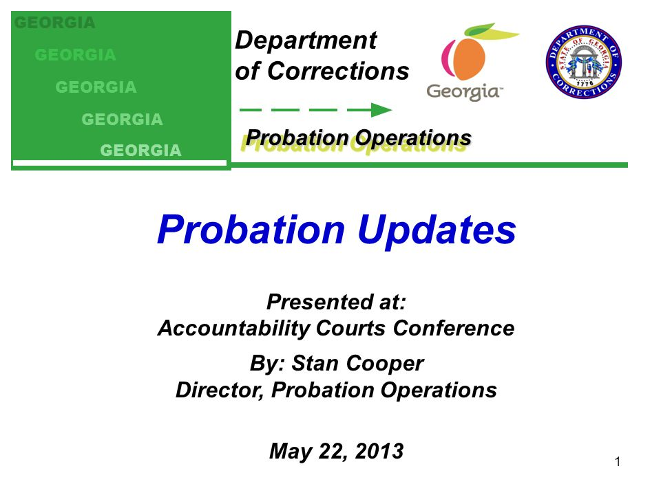 Accountability Courts Conference Director, Probation Operations