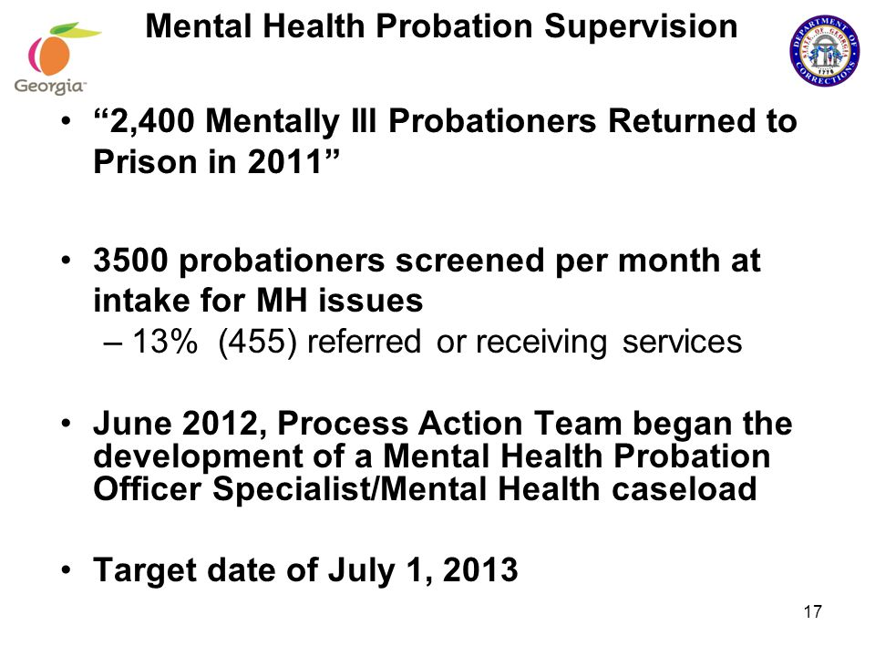 Mental Health Probation Supervision