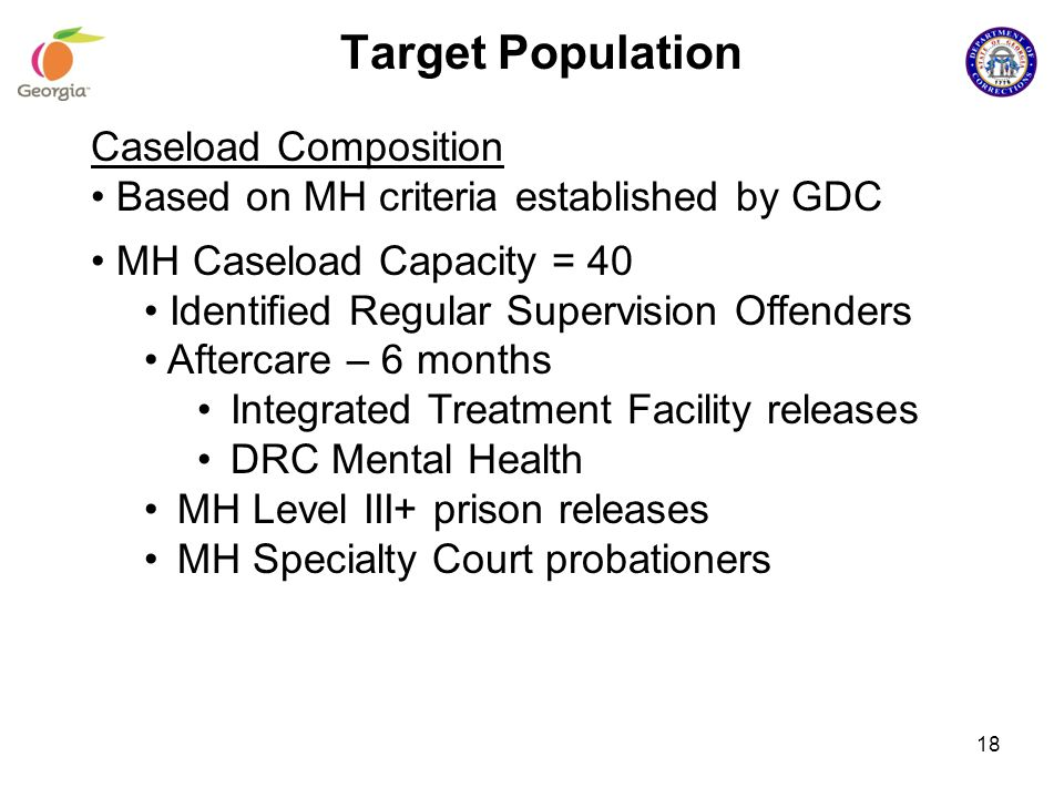 Target Population Caseload Composition