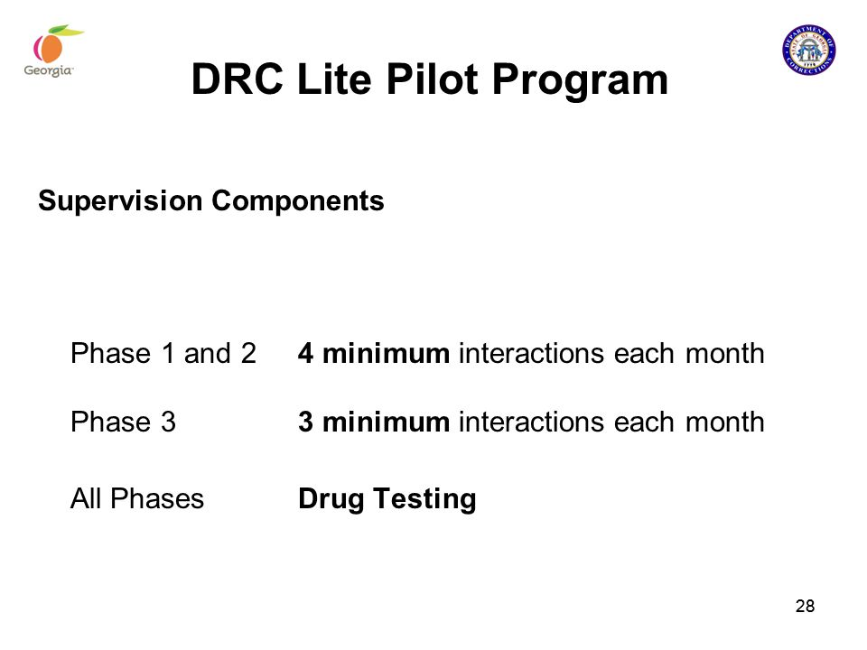DRC Lite Pilot Program Supervision Components