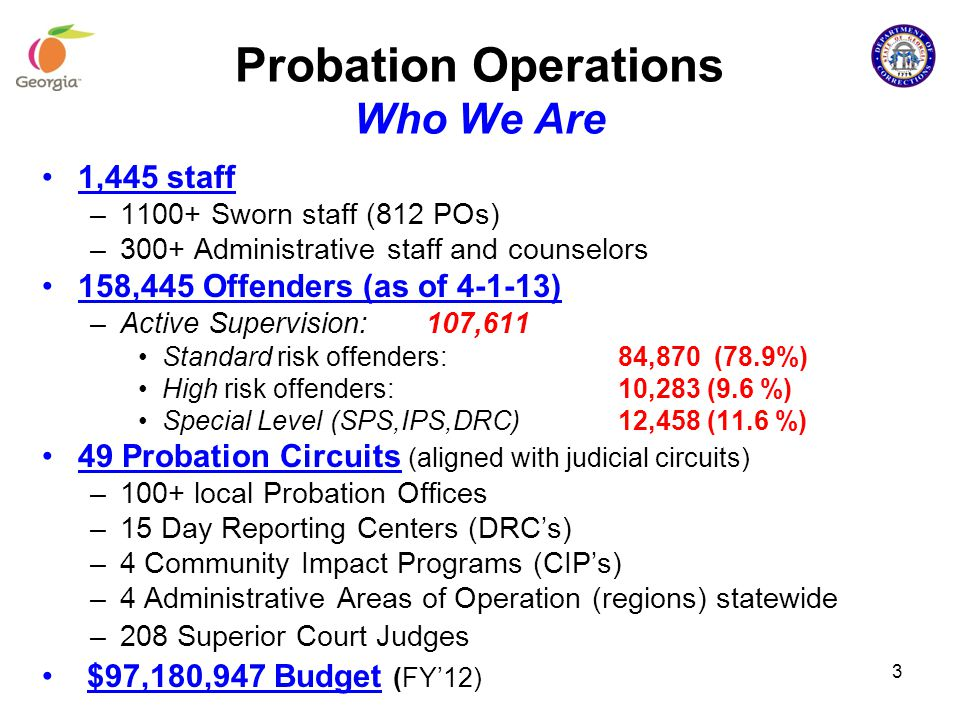 Probation Operations Who We Are