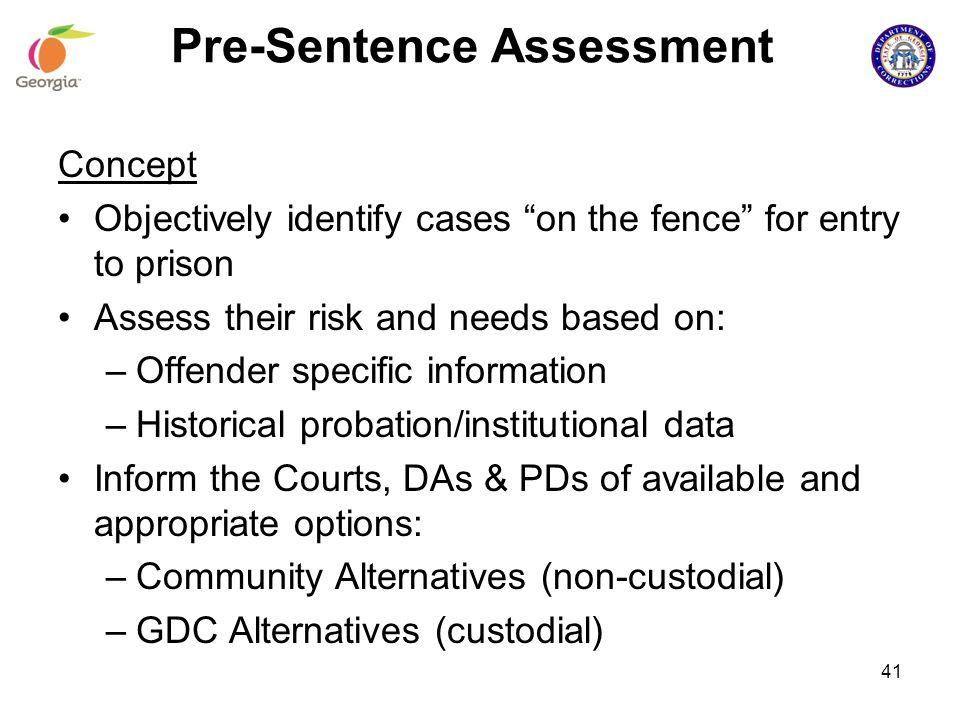 Pre-Sentence Assessment