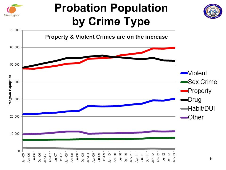 Probation Population by Crime Type