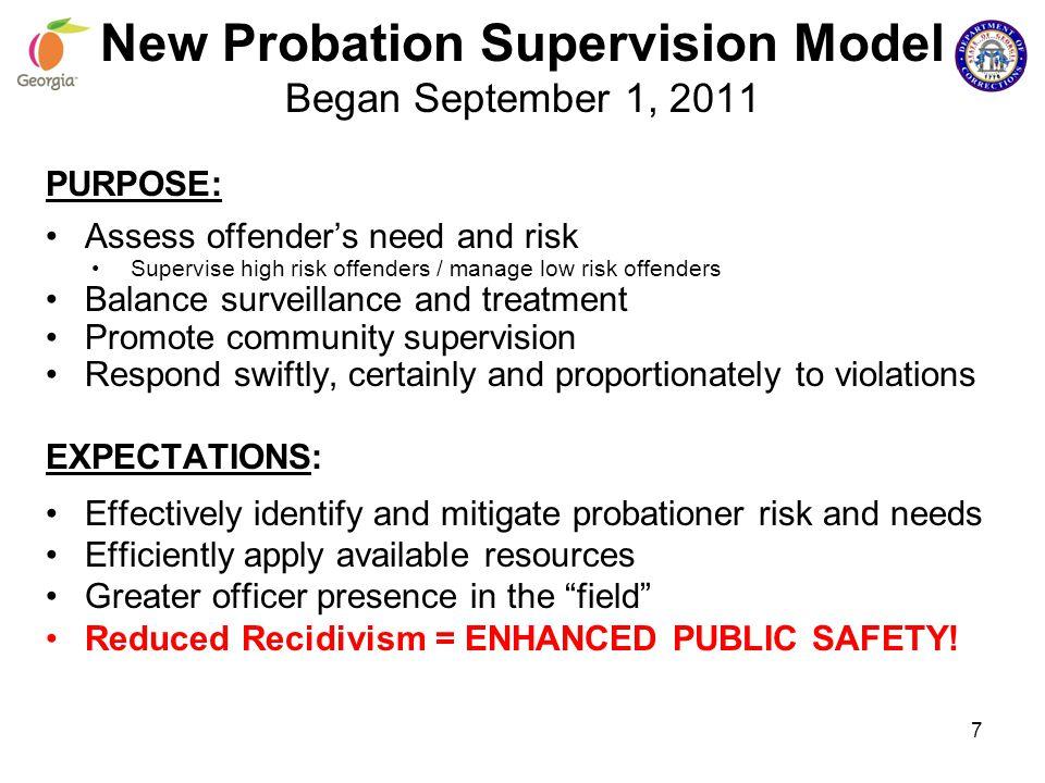 New Probation Supervision Model Began September 1, 2011