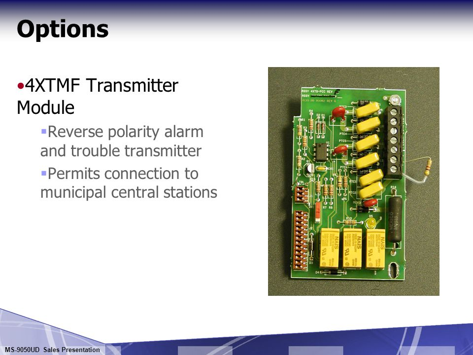 Options 4XTMF Transmitter Module