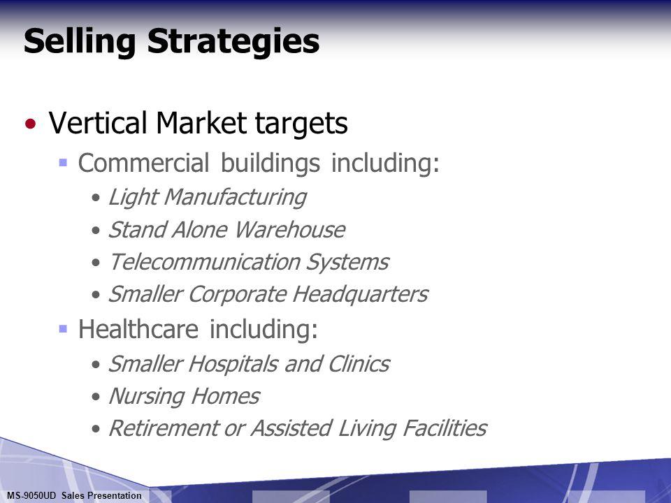 Selling Strategies Vertical Market targets