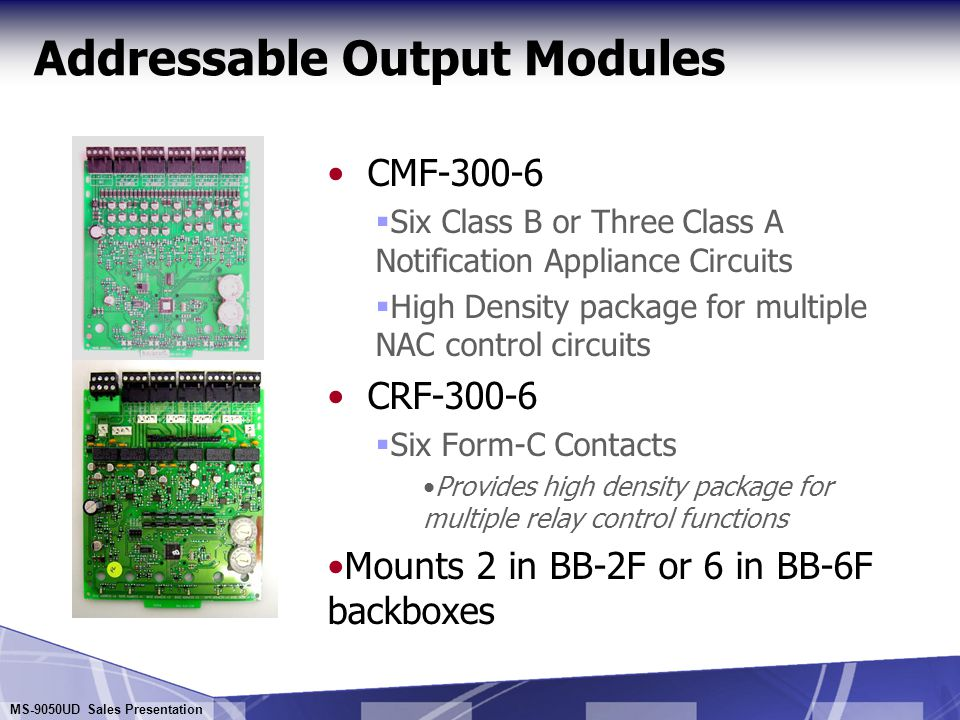 Addressable Output Modules