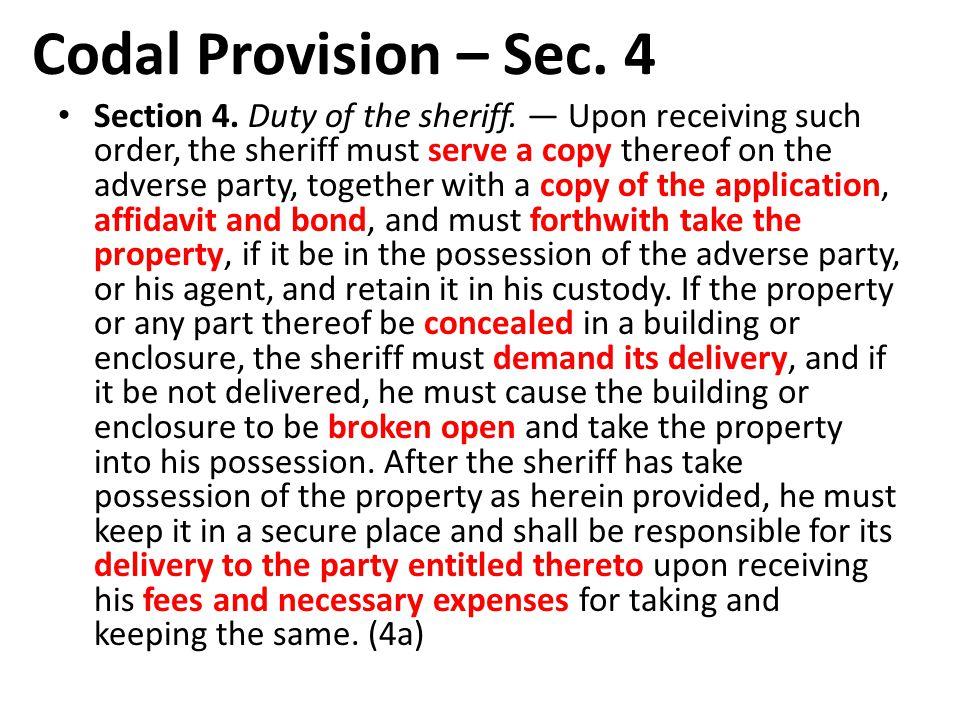 Codal Provision – Sec. 4