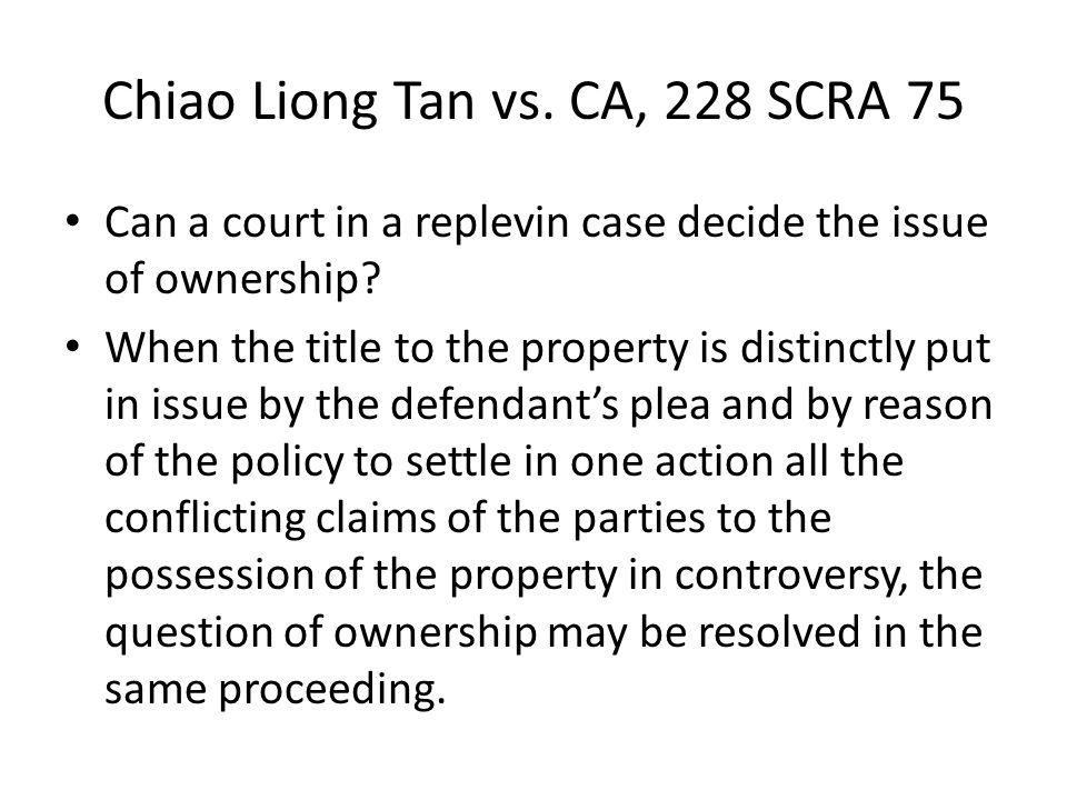 Chiao Liong Tan vs. CA, 228 SCRA 75