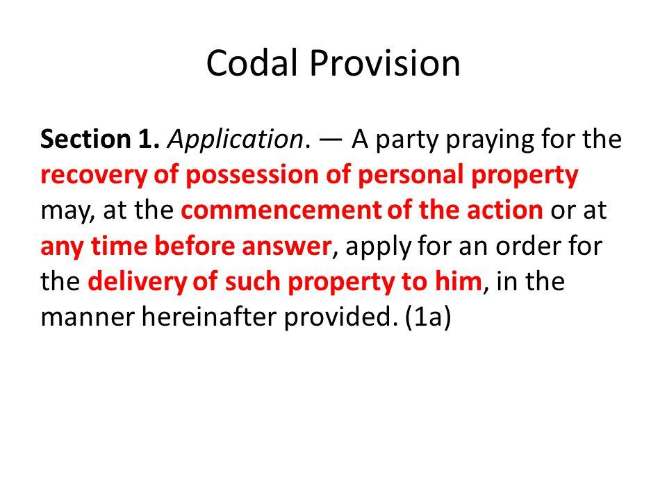 Codal Provision