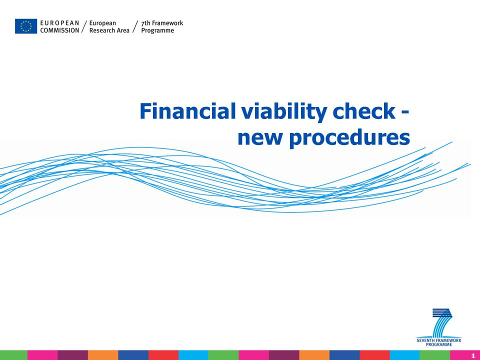 Financial viability check - new procedures