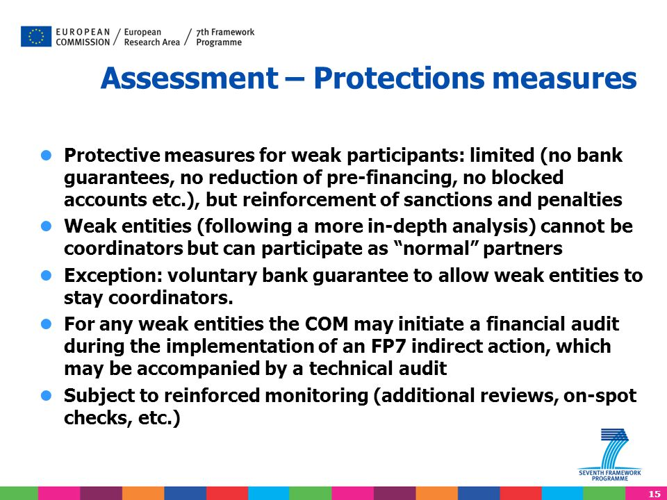 Assessment – Protections measures