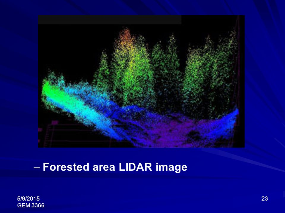 Forested area LIDAR image