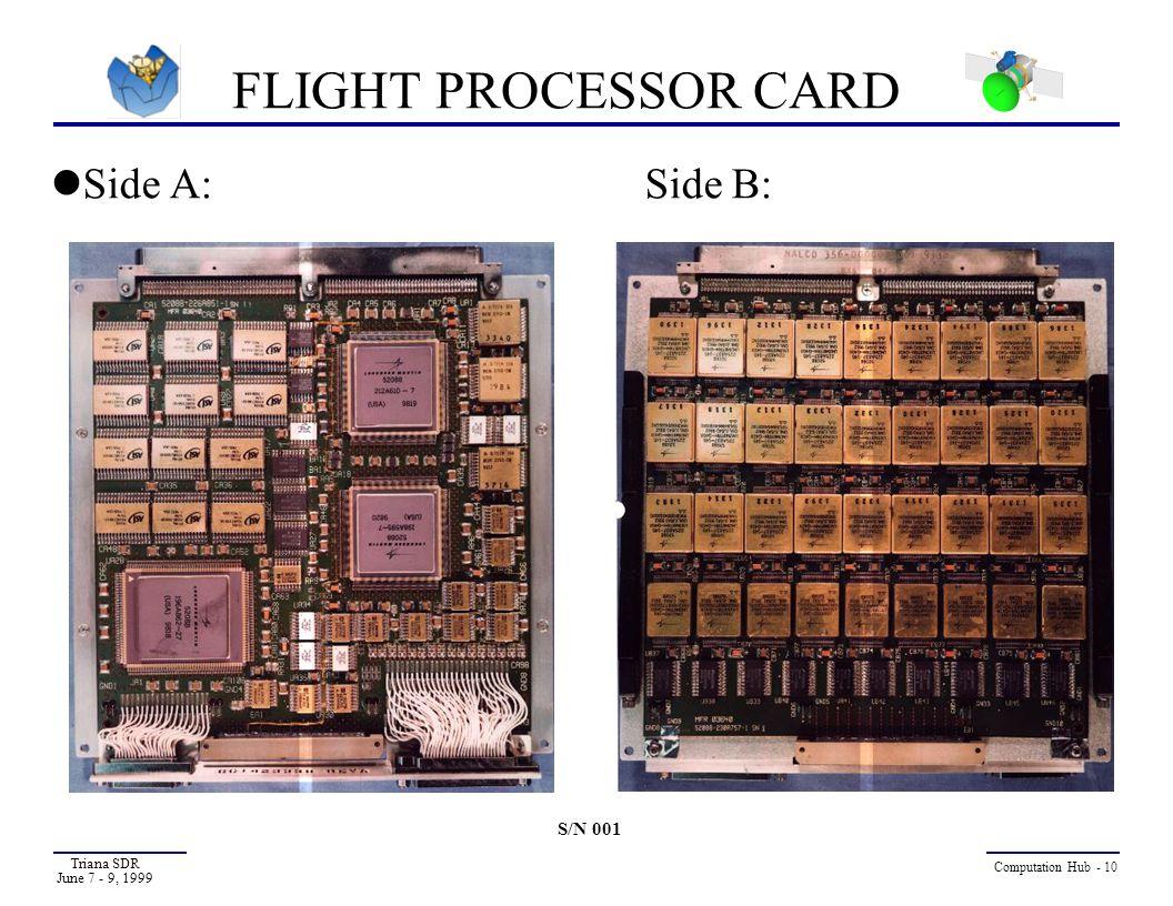 FLIGHT PROCESSOR CARD Side A: Side B: S/N 001 Triana SDR