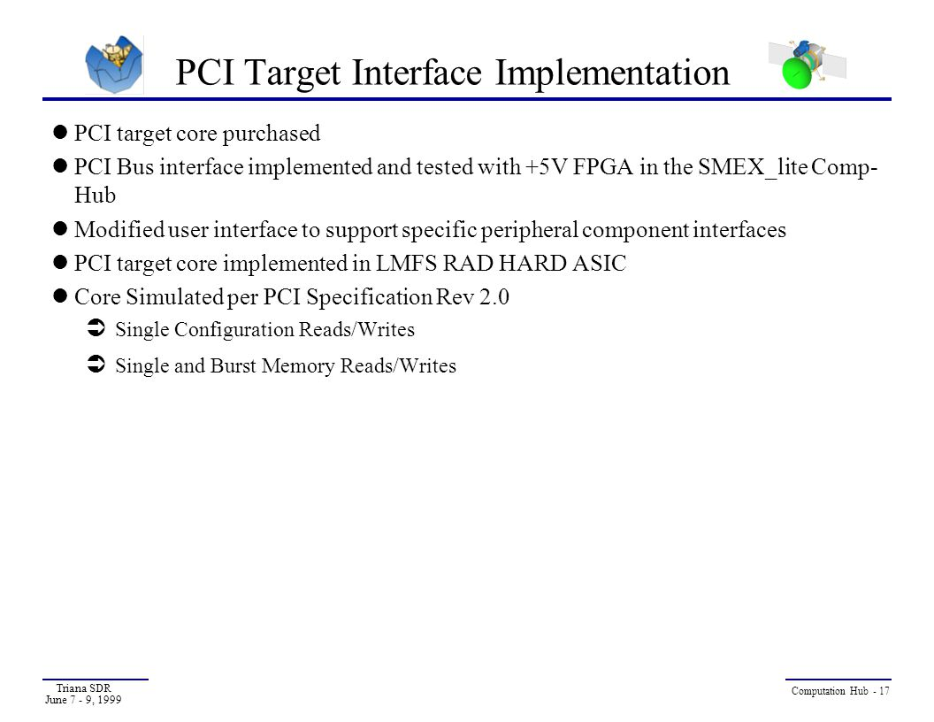 PCI Target Interface Implementation