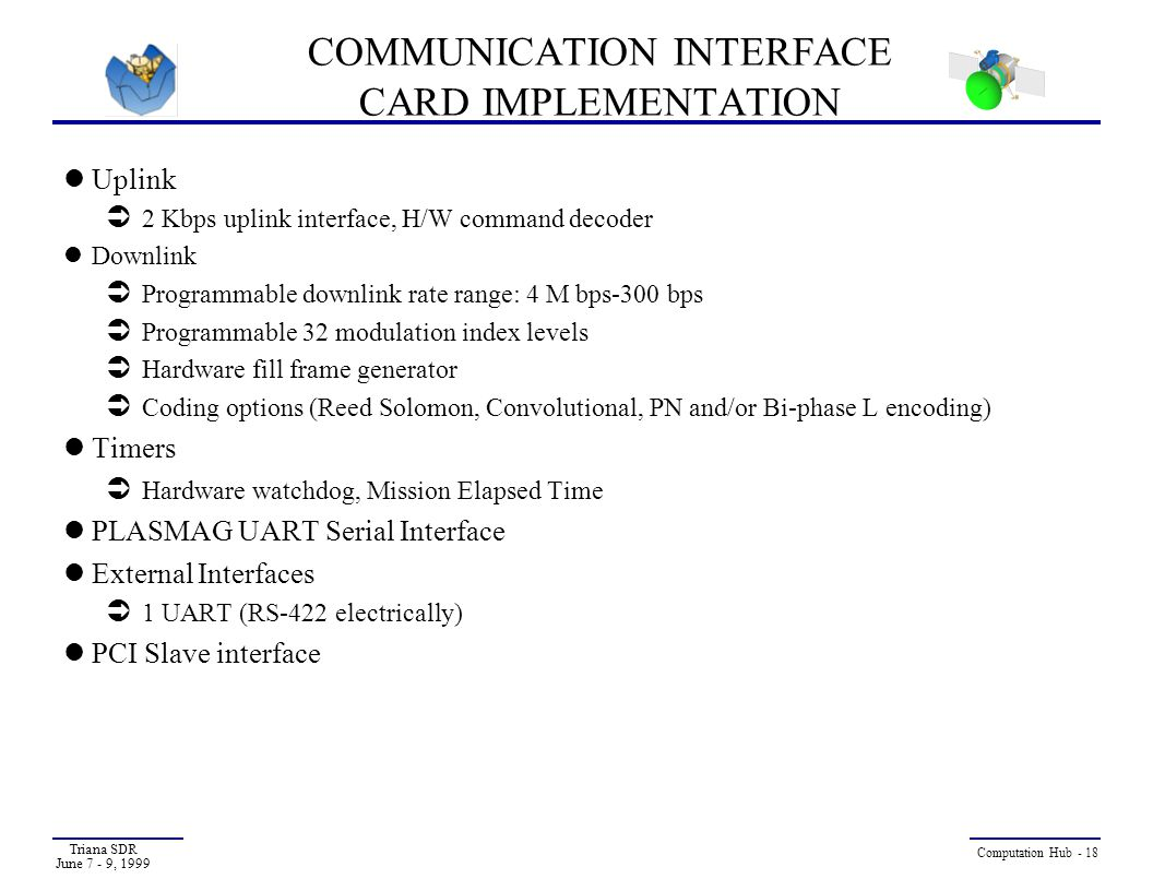 COMMUNICATION INTERFACE CARD IMPLEMENTATION