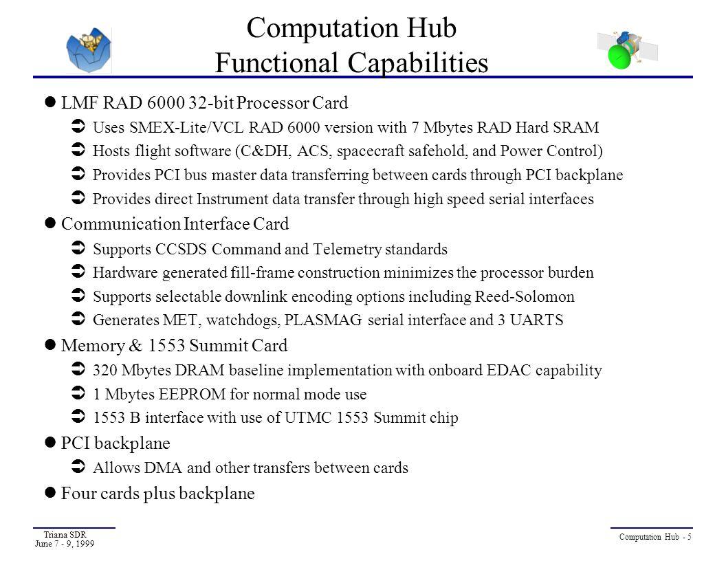 Computation Hub Functional Capabilities