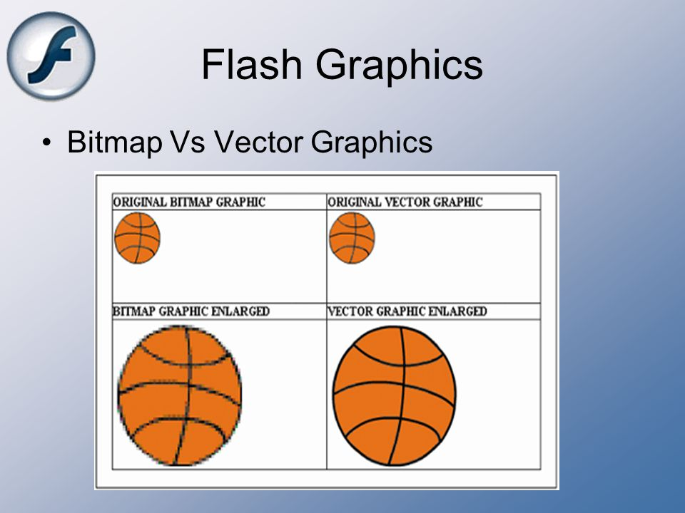 Flash Graphics Bitmap Vs Vector Graphics