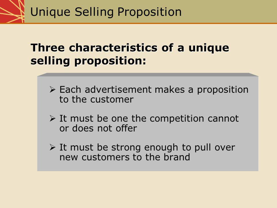 Unique Selling Proposition