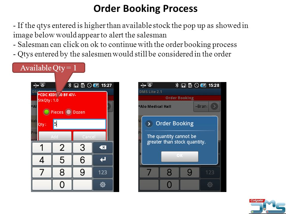 Order Booking Process
