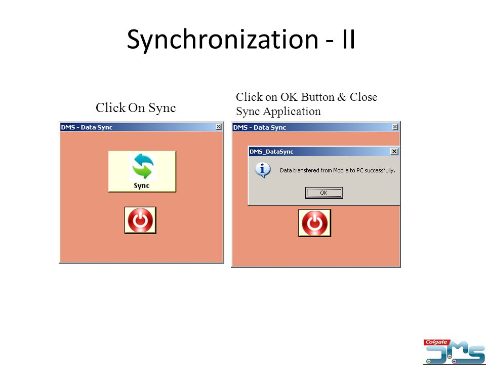 Synchronization - II Click On Sync