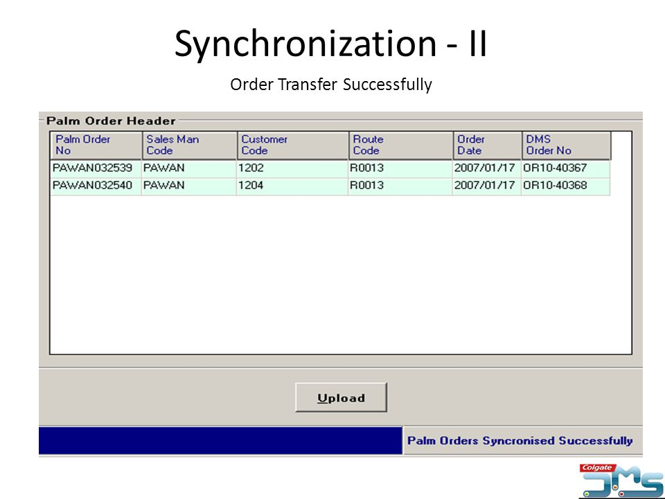 Order Transfer Successfully