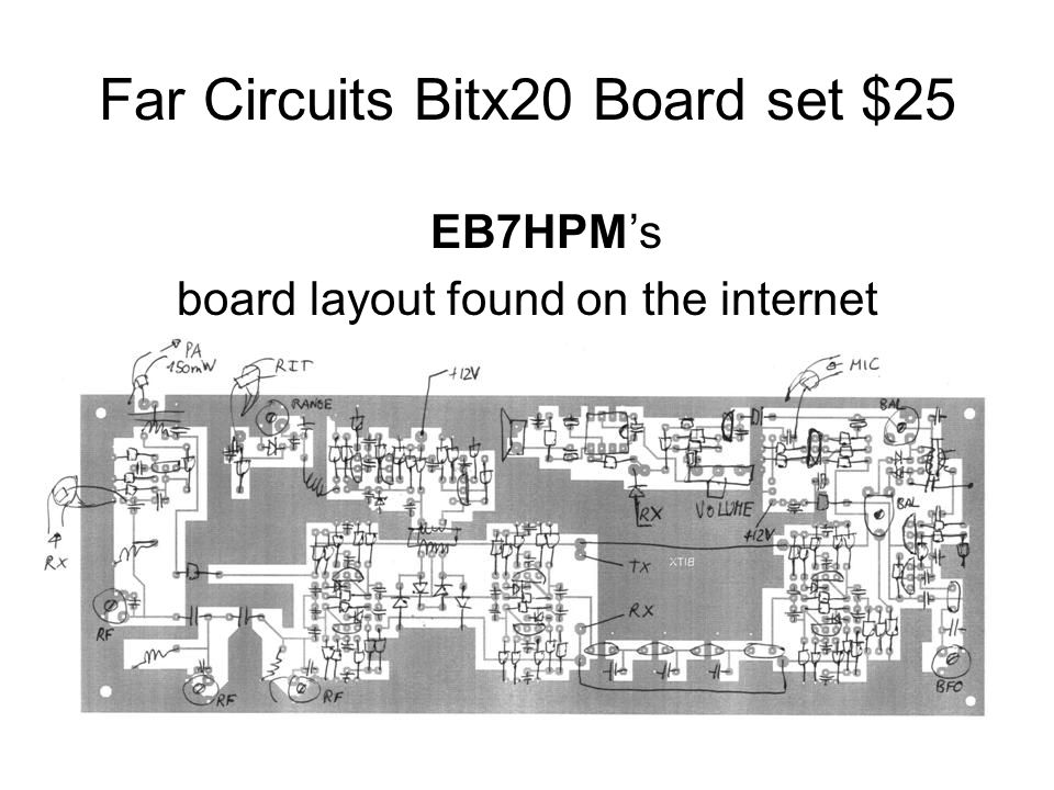 Far Circuits Bitx20 Board set $25