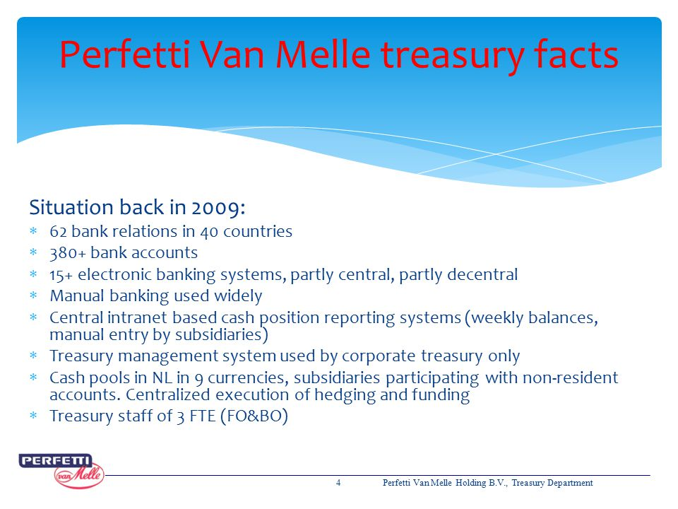 Perfetti Van Melle treasury facts
