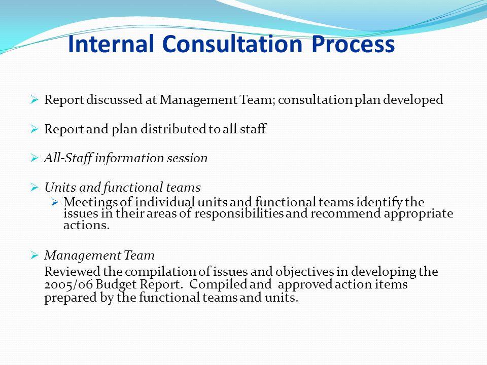 Internal Consultation Process