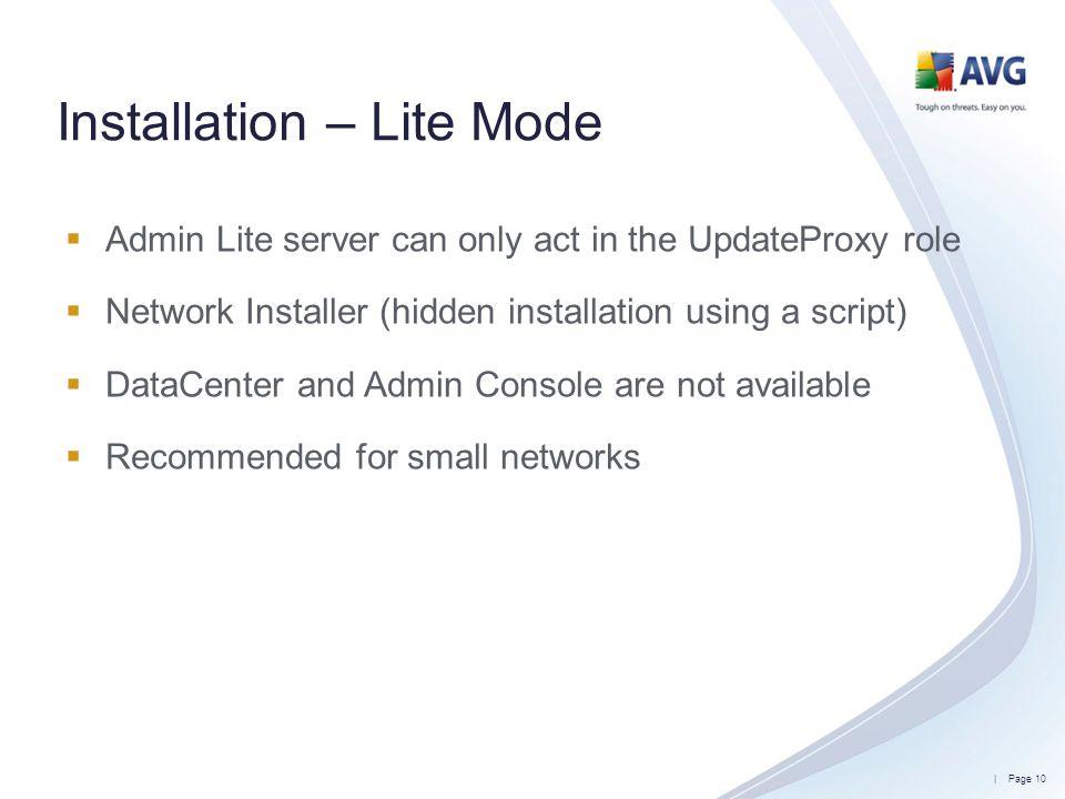 Installation – Lite Mode