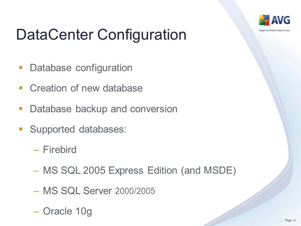 DataCenter Configuration