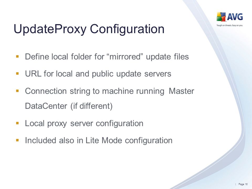 UpdateProxy Configuration
