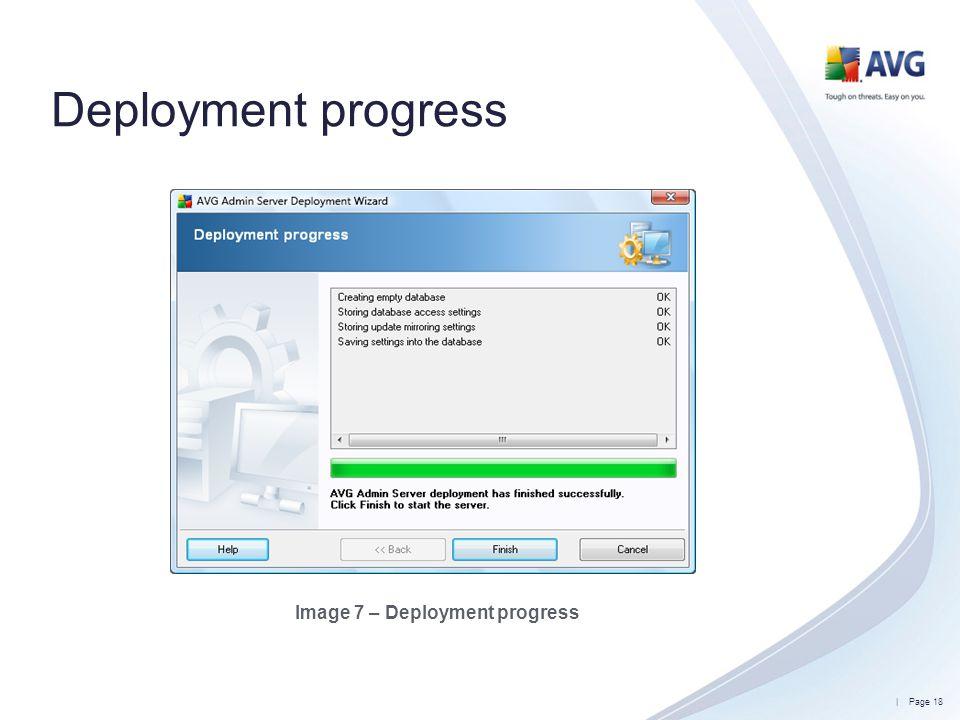 Image 7 – Deployment progress