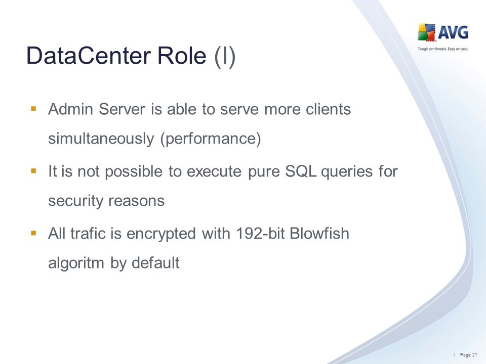 DataCenter Role (I) Admin Server is able to serve more clients simultaneously (performance)