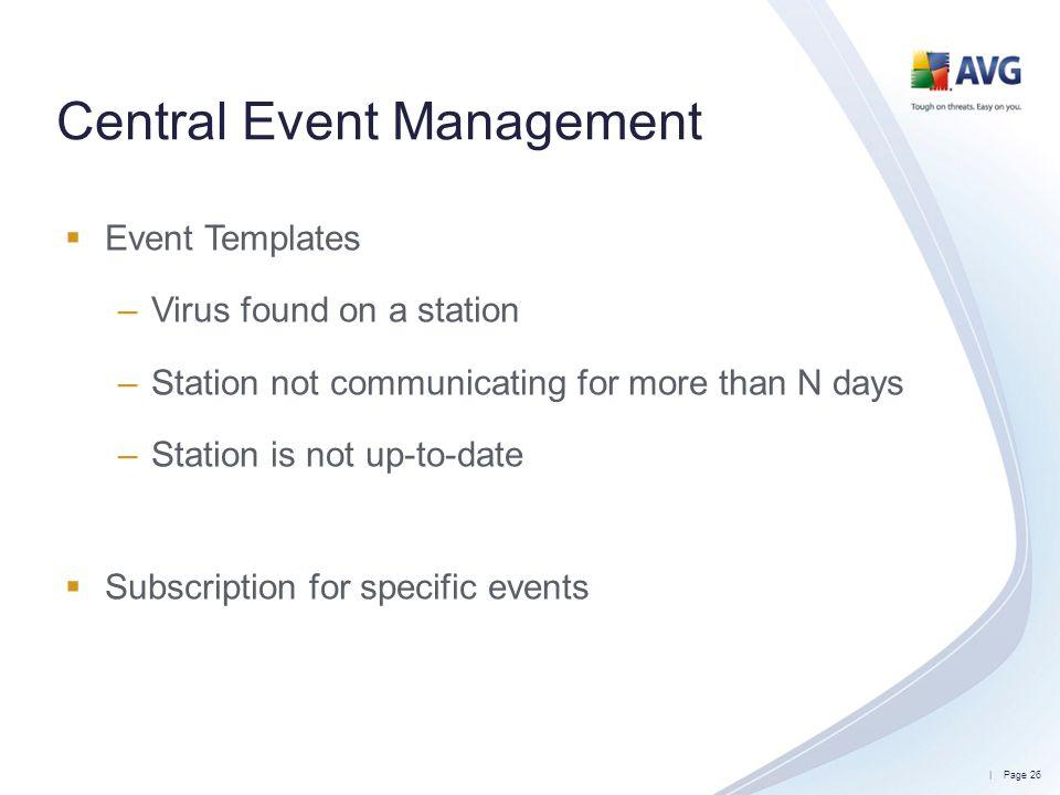 Central Event Management