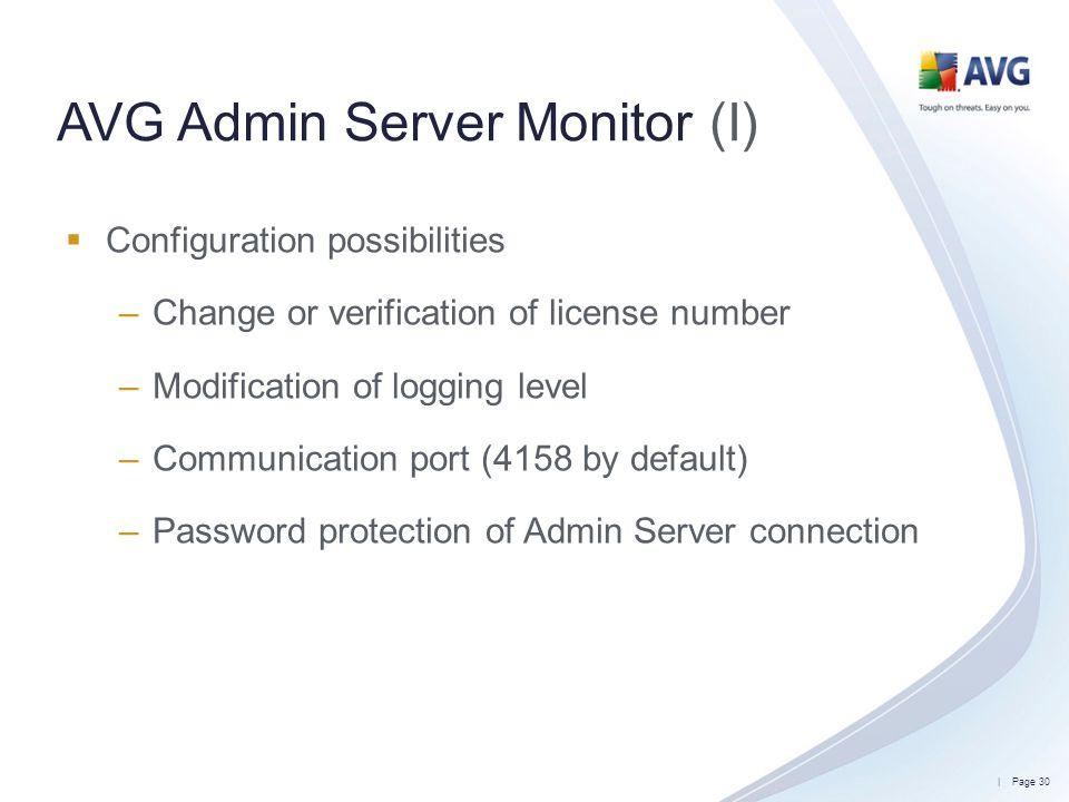 AVG Admin Server Monitor (I)