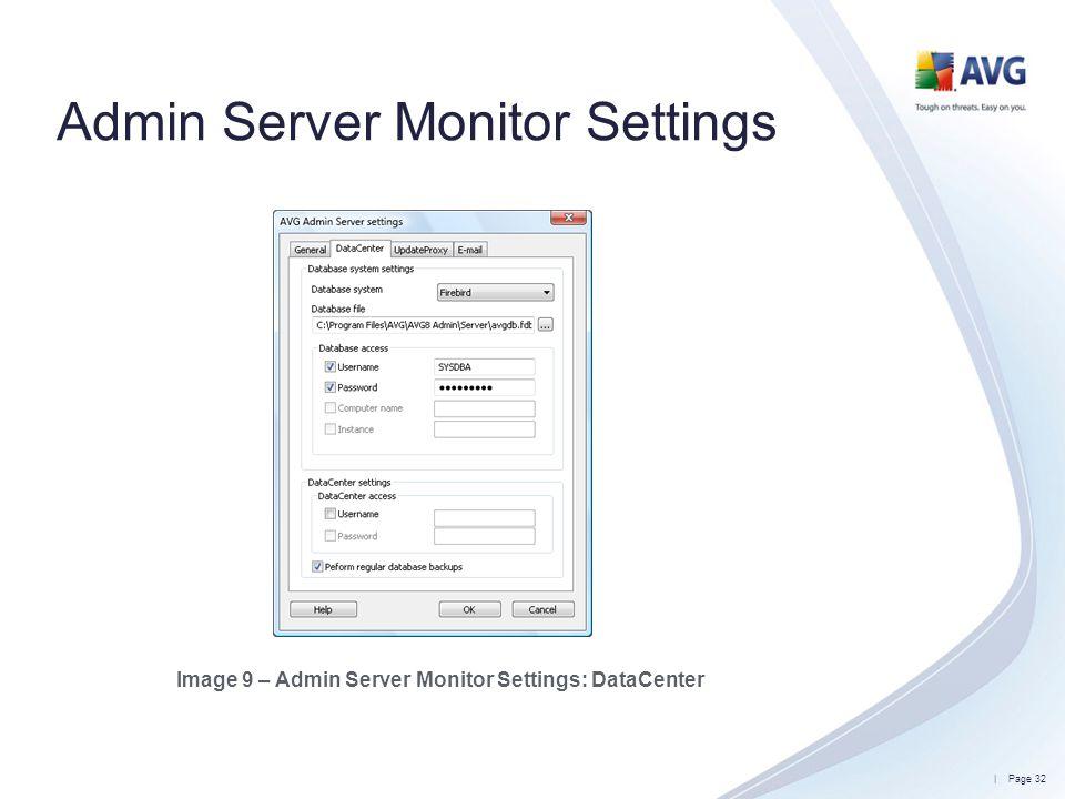 Admin Server Monitor Settings