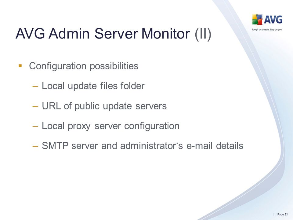 AVG Admin Server Monitor (II)