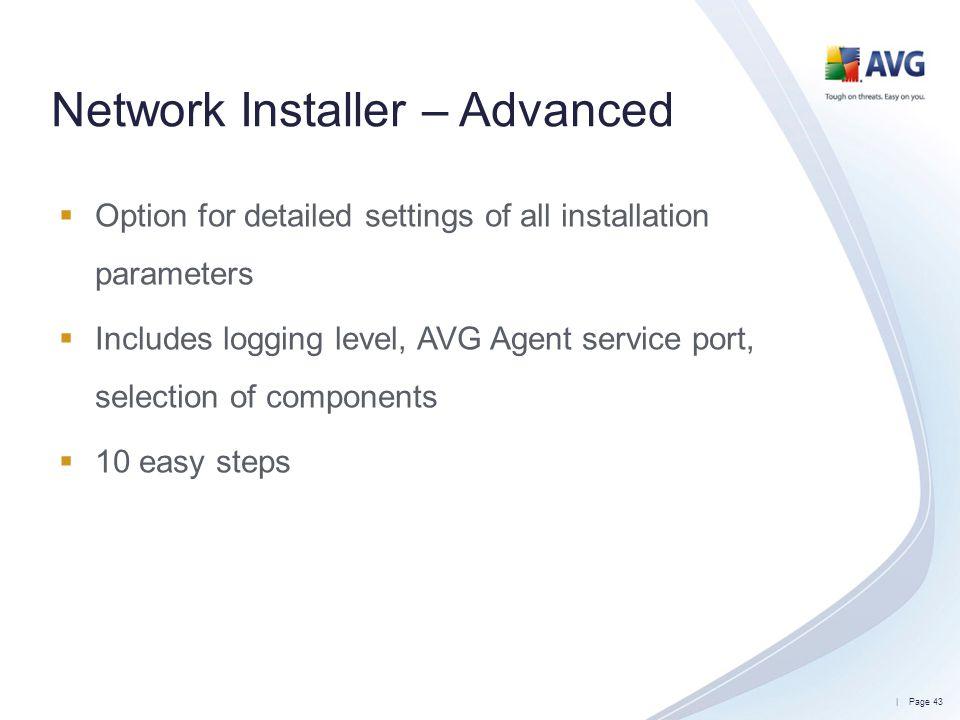 Network Installer – Advanced