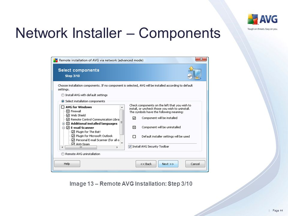 Network Installer – Components