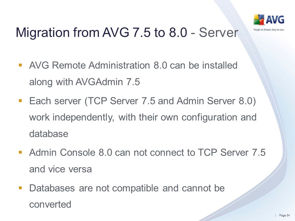 Migration from AVG 7.5 to 8.0 - Server